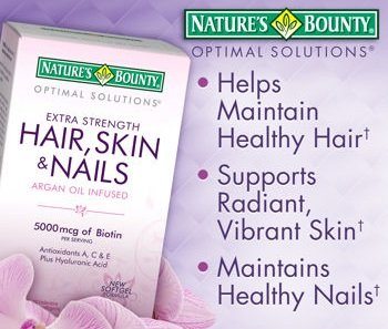 Nature's Bounty Extra Strength Hair Skin Nails, 250 Count