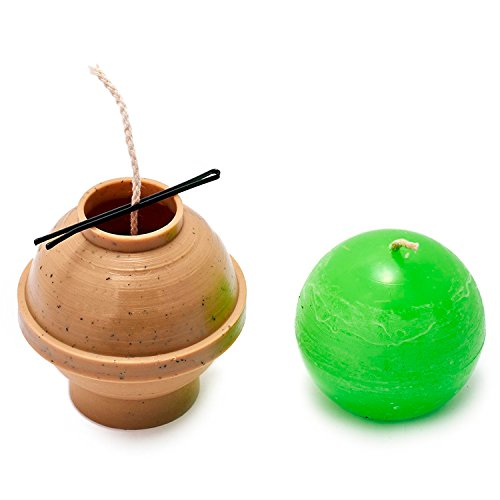 Ball diameter: 2.5 in - Sphere - 30 ft. of wick included as a gift - Plastic candle molds for making candles ()