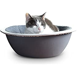 HEPPER NEST CAT BED Keep Fur Off Your Couch, Bed and Furniture With Our Modern Pet Bed for Cats and Small Dogs. Removable,Washable Fleece/Microfiber Liner. Cats Love to Snooze in this Bowl Shaped Bed!