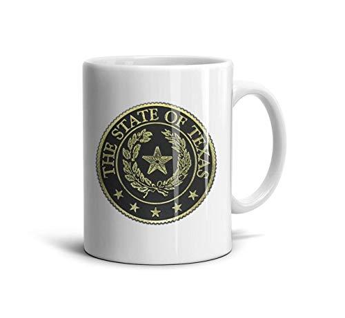 SJKSDVHF White Novelty CeramicBeer Mug The State of Texas