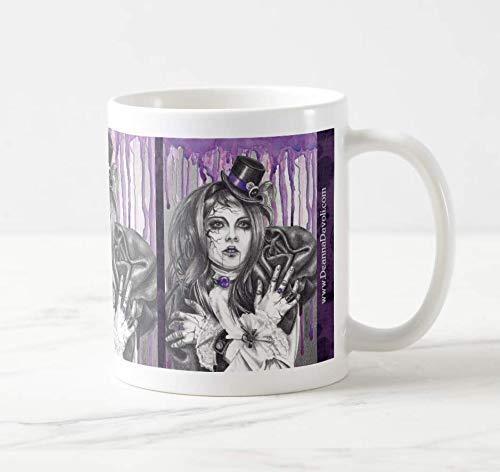 February Birthstone Mug Amethyst Coffee Mug Broken Doll Mug Gothic Mug Coffee Cup Tea Cup
