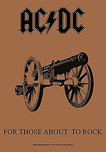 AC/DC For Those About To Rock Fabric Poster
