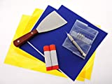 3D Printer Parts Accessories Maintanance Kit for ABS Blue painters tape PLA Polymide Kapton Tape + Print bed removal tool Glue Sticks + 4ty .40mm Clogged nozzle bits with pin-vise