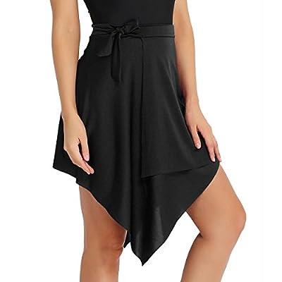 Agoky Women's Ballroom Latin Salsa Tango Dance Skirt Wrap Scarf Dancewear
