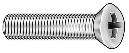 #10-32 x 5/8'' Oval Head Phillips Machine Screw, 100 pk. by Materro
