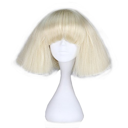 Miss U Hair Short Kinky Straight Wig Blonde Fashion Party Hair Wig (blonde) C090-A01]()