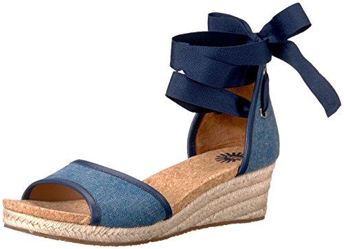 (UGG Women's Amell Wedge Sandal, Marino, 7 B US)