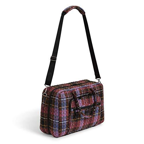 Vera Bradley Signature Cotton Lay Flat Weekender Travel Bag, Cozy Plaid