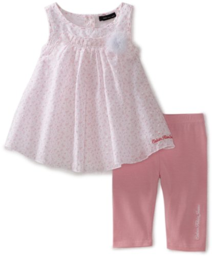 Calvin Klein Baby Girls' Printed Top with Pink Bottom