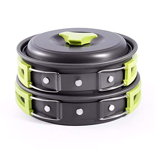 Season Sport Outdoor Camping Pot Set and pan Set Non-Stick Outdoor Camping Hiking Cooking Pot