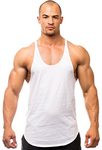 Iwearit Stringer Tank-Top (Wht-S) Made in USA