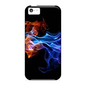 meilz aiaiForever Collectibles Red And Blue Flame Hard Snap-on iphone 6 plus 5.5 inch Casesmeilz aiai