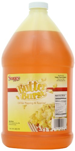 Snappy Popcorn Butter Burst Oil, 1 gallon (128 fl oz) (Best Butter For Popcorn Machine)