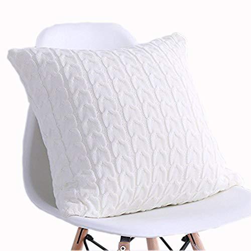 LakeMono 100% Cotton Twist Crocheted Throw Blanket and Pillow case (18