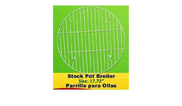 Stock Pot Broiler 17.7 Inches - Parrilla Para Ollas: Amazon ...