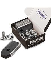Filzada® Titan kniv svart lämplig för alla Husqvarna Automower – ultravassa ersättningsblad – inkl. skruvar – robotgräsklippare kniv lämplig för Husqvarna 305, 308, 310, 315, 320, 420, och mycket mer.