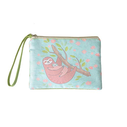 (Rantanto Cute Classic Exquisite Canvas Cash Coin Purse, Make Up Bag, Cellphone bag With Handle (BG0002 Sloth))