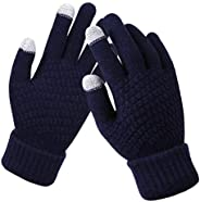 Glove us Women Men Knitted Touch Screen Gloves Warm Winter Thick Mittens Unisex for iPhone Smart phones Laptop