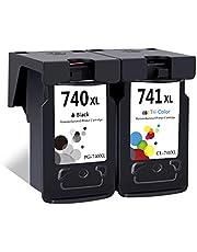 LEBOK Remanufactured PG-740XL CL-740XL Ink Cartridges for Canon PG740 740XL CL741 741XL Ink Cartridges for Canon Pixma MG2170 MG2270 MG3170 MG3570 MG4170 MX377 MX397 MX437 1 Black 1 Tri-Color