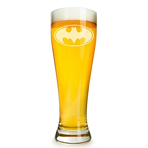 Abby Smith, Batman Engraved 16 ounce Beer Glass Pilsner