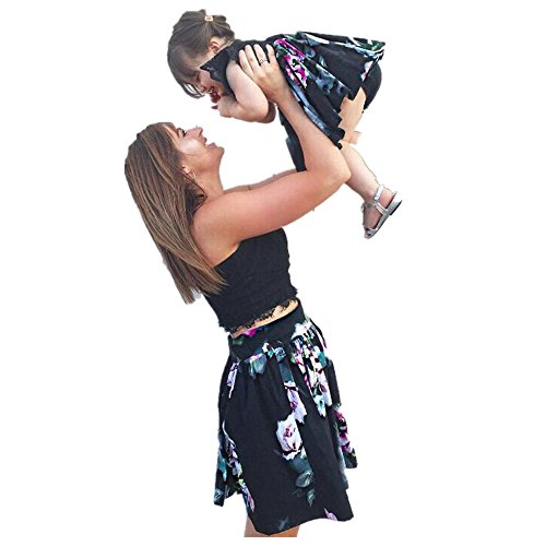 (Franterd Mommy & Me Parent-Child Shirt Men Ctrl +C Baby Ctrl +V Print Short Sleeve T-Shirt Tops Blouse Family Matching Clothes (L,)