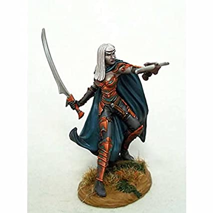 Amazoncom Female Dark Elf With Crossbow Miniature Visions In