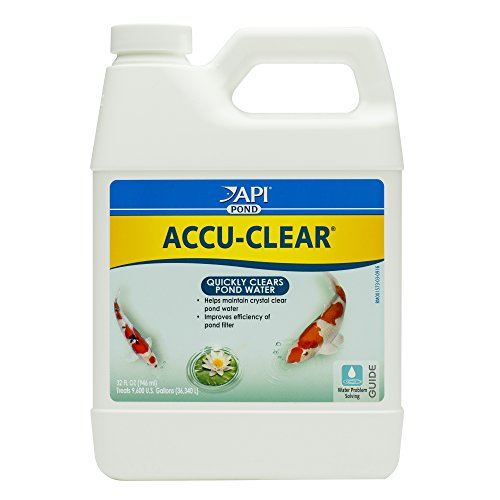API POND ACCU-CLEAR Pond Water Clarifier 32-Ounce - Control Algae Cleaner