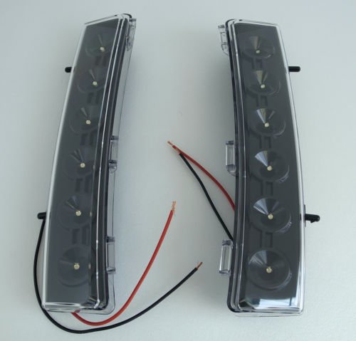 JDM WHITE LED BUMPER REFLECTOR DRL FOR 2006-2008 NISSAN 350Z