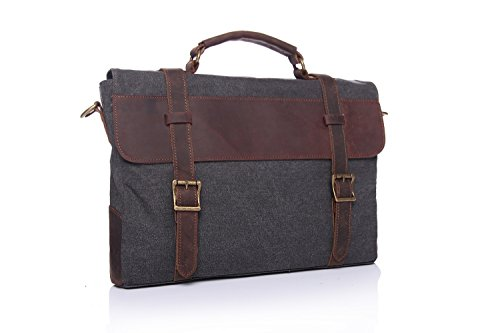 Messenger Men's Briefcase Retro Of Portable With The Canvas Bag Blue Shoulder Crazy Leather First Layer Horse dqrw6q