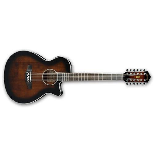 Ibanez AEG1812II AEG 12-String Acoustic-Electric Guitar Dark Violin Sunburst ()