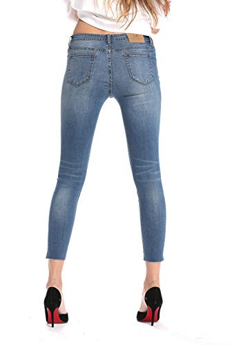 Wash 000102 Stretch Medium Donna Elmer jeans Ankle Alice Skinny amp; Vita Normale P7nwqvx