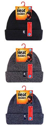 negro para Gorro Punto Hombre de Holders Heat IpzYSUq