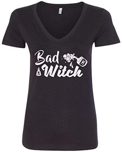 Threadrock Women's Bad Witch V-neck T-shirt XL (Bad Witch)