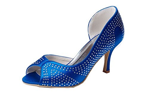 femme Bleu Fashion 43 mariée Kevin Azul Chaussure fashion azul de EU SwXYxUdq
