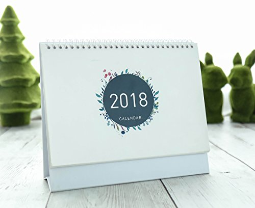 Eyxia 2018 Stand Up Desktop Calendar Office Colorful Pattern Schedule Gift Book Monthly Flip Desk Daily List (Calendar Pattern)