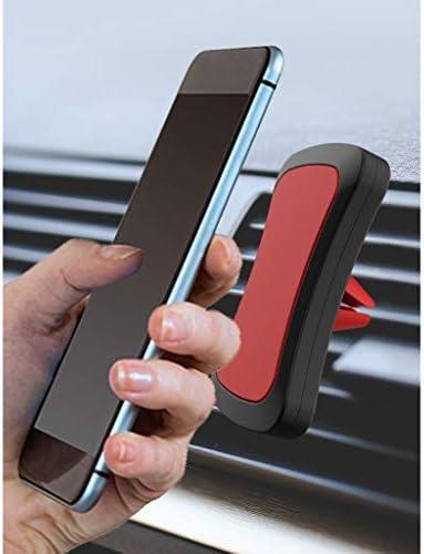 磁気携帯電話ブラケット、カーエアコンポートマグネットナビゲーションブラケットエアアウトレットカーサクションカップデスクトップ (色 : 黄)