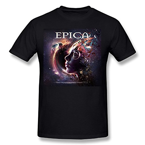 Darius Men's The Holographic Principle Epica T-shirt Black ()