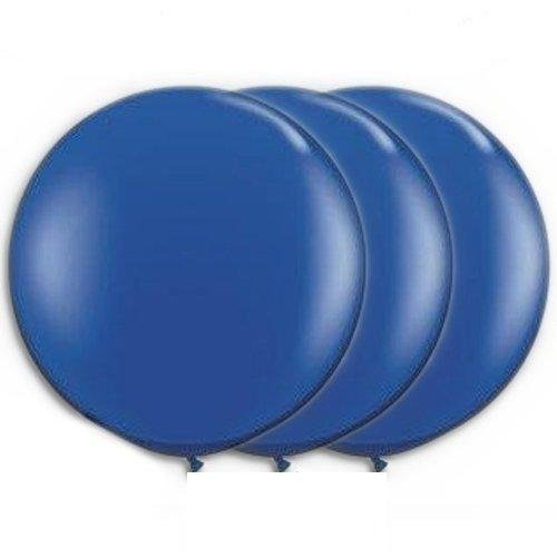 36 Inch Giant Round Sapphire Blue Latex Balloons by TUFTEX (Premium Helium Quality) Pkg/3 for $<!--$9.99-->