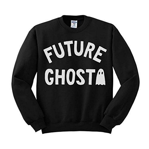 Future Ghost Sweatshirt Unisex Large Black -