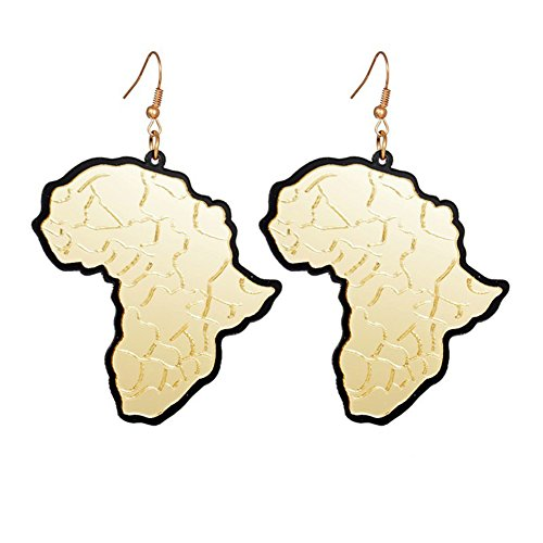 Africa Map Earrings Geometric Pendants Acrylic Drop Earrings Exaggerated Fashion Jewelry Dangle Earring Accessories