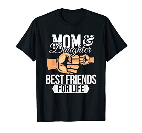 Best Friends Mom And Daughter Fist Bump T-shirt