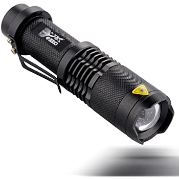 UltraFire® Sk98 Adjustable Focus Zoom Ultrafire Cree Xml-t6 Led 1200lm Waterproof Flashlight Torch 3-modes(flashlight Only)