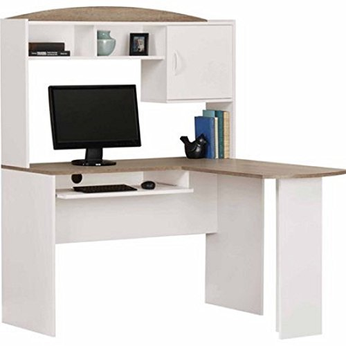 Ikea Dubai Kitchen Accessories: Mainstays L-Shaped Desk With Hutch, Multiple Finishes