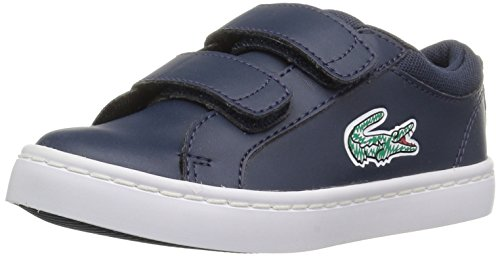 Lacoste Baby Straightset Lace 118 1 Cai Sneaker, Navy/White, 5.5. M US Toddler