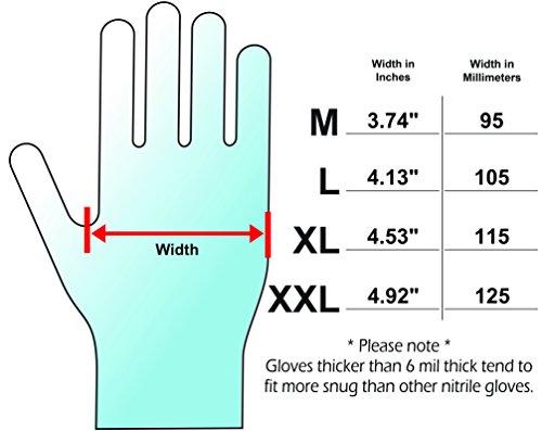 Adenna DLG675 Dark Light 9 mil Nitrile Powder Free Exam Gloves (Black, Medium) Box of 100 by Adenna (Image #2)