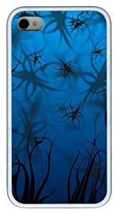iPhone 4S Case,Pinstripes Shadow Background TPU Custom iPhone 4/4S Case Cover Whtie