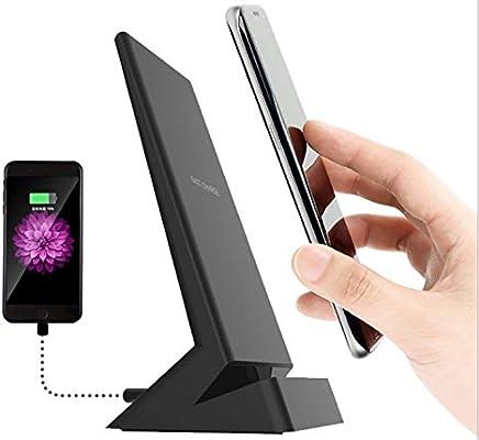 3bf8793fd87 9 V Soporte para teléfono celular cargador inalámbrico Qi rápida USB doble  salida, doble bobina Gran área de carga Inducción, No Blind Spot,  compatible con ...