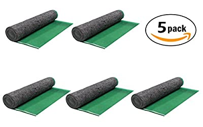 AMERIQUE 691322302929 Heavy Duty 3.2mm Padding with Vapor Barrier & Tape Super Quiet Walk Felt Underlayment, 500 sq. ft, Bright Green, 5 Roll