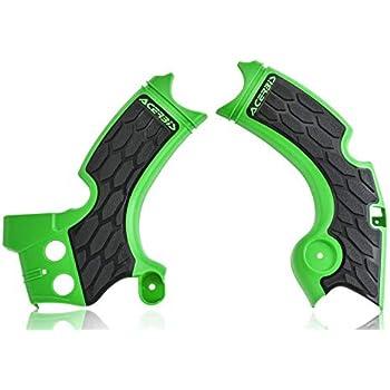 Acerbis X-Grip Frame Guards Green//Black fits Kawasaki KX250F 2015-2018