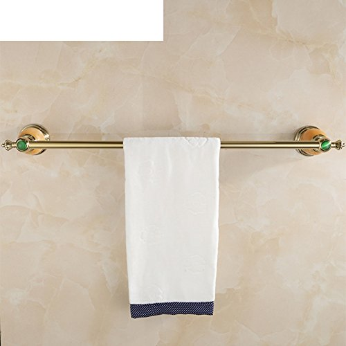 50%OFF Golden towel racks/Brass single Towel Bar/Towel hanger/European style bath Towel rack/Jade Towel Bar/Bathroom Accessories